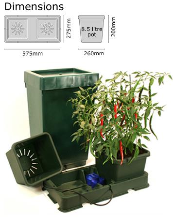 Autopot Easy2grow Kit s 2 květináči, včetně 47 l plastové nádrže