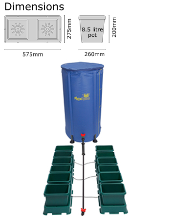 Autopot Easy2grow Kit se 12 květináči, včetně 100 l Flexitank