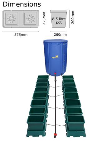Autopot Easy2grow Kit se 16 květináči, včetně 225 l Flexitank