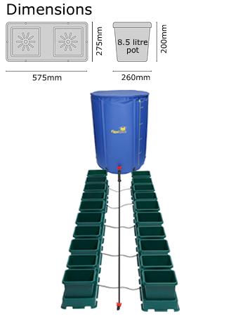 Autopot Easy2grow Kit se 20 květináči, včetně 225 l Flexitank
