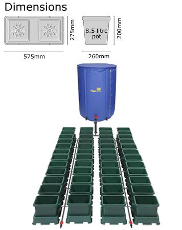 Autopot Easy2grow Kit se 48 květináči, včetně 400 l Flexitank