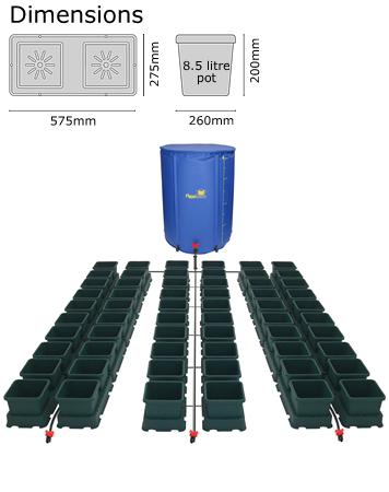 Autopot Easy2grow Kit se 60 květináči, včetně 400 l Flexitank