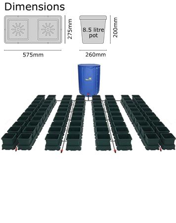 Autopot Easy2grow Kit s 80 květináči, včetně 750 l Flexitank