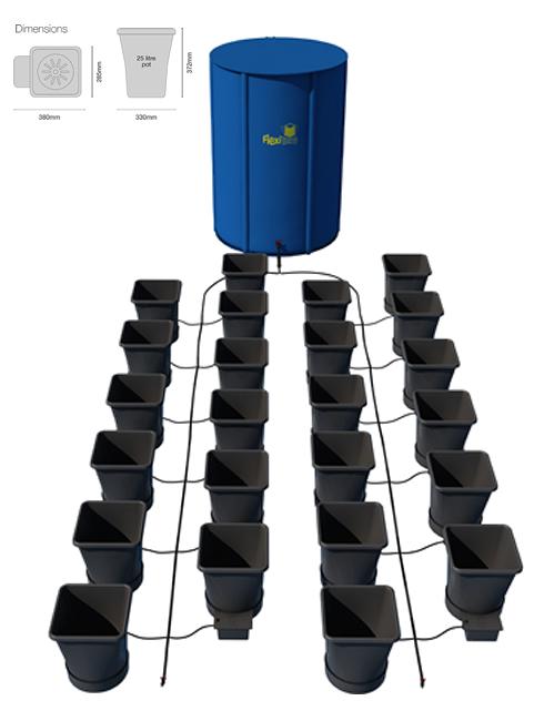 Autopot 1Pot XL Module se 24 květináči, včetně Flexitank nádrže 400L