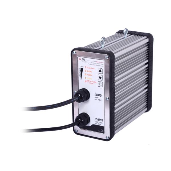 Elektronický předřadník 600W GSE V2.0, čtyřpolohová regulace, IEC konektor