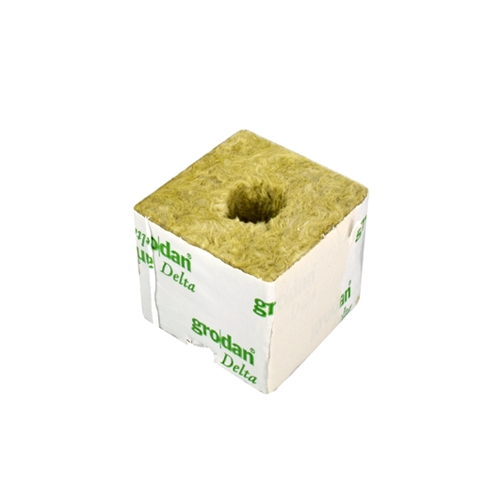 GRODAN pěstební kostka malá, 75x75x65mm, s malou dírou