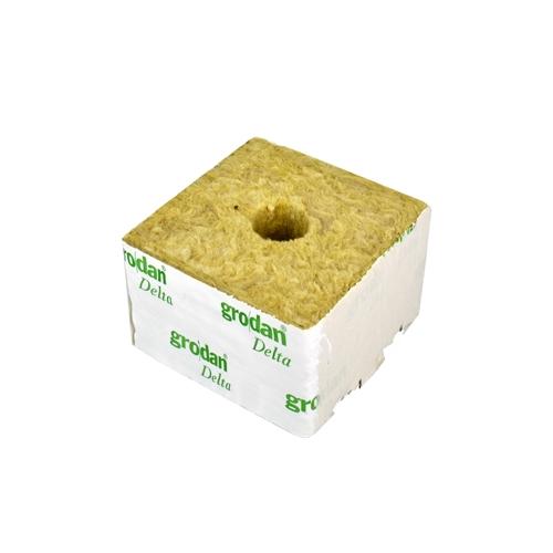 GRODAN pěstební kostka velká, 100x100x65mm, s malou dírou