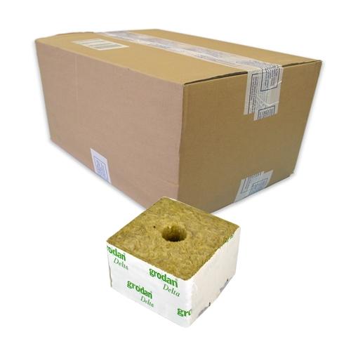 GRODAN pěstební kostka velká, 100x100x65mm, s malou dírou, box 216ks