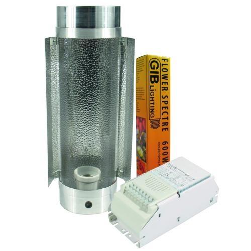 KIT 600W Cooltube s odtahem o prům. 125mm + výbojka GIB Lighting Flower Spectre HPS