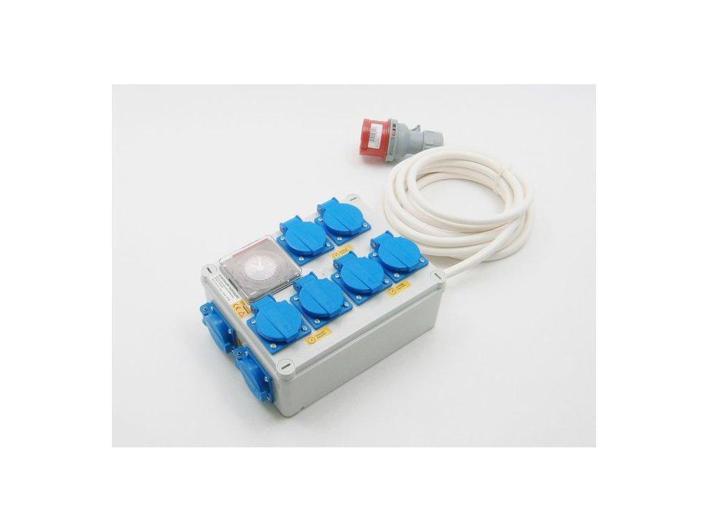 Malapa rozvaděč 6+2 (400V) ovládaná spínacími hodinami