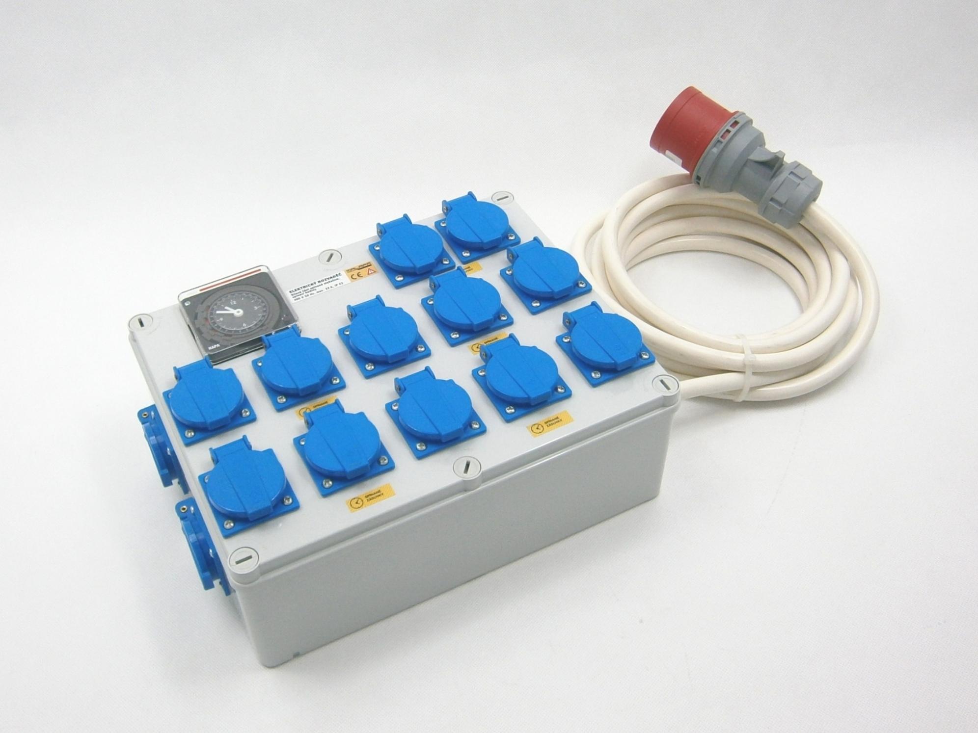 Malapa rozvaděč 12+2 (400V ) s tepelnou ochranou proti požáru max 3500W, 16A
