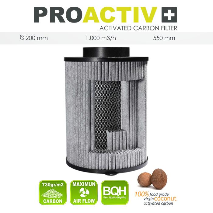 Filtr Pro Activ - 200/1000 m3/h s aktivním uhlím proti zápachu