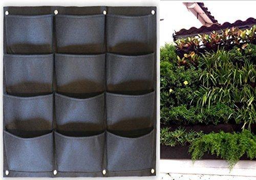PRO Pot Wall 12 - textilní květníky na zeď 12 kapes