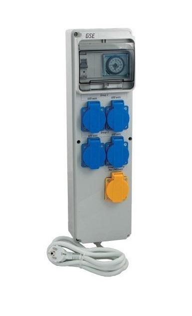 GSE Timer BoxIII 4x600W+topení-novinka!