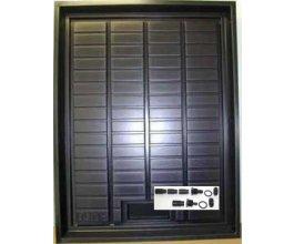 EBB&FLOW DUMA napouštěcí stůl černý se šroubením, 100x75x7,5cm
