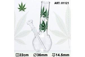 Bong sklo multi Leaf 22cm, průměr 36mm