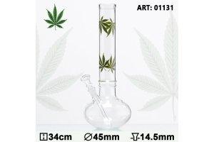 Bong sklo Multi Leaf Bouncer 34cm, průměr 45mm