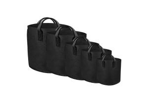 GUTPot - textilní květináč černý, 38L