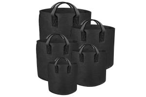 GUTPot - textilní květináč černý, 76L