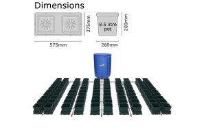 Autopot Easy2grow Kit se 100 květináči, včetně Flexitank 750L