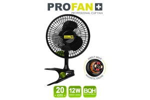 Garden High PRO - Klipsnový ventilátor PROFAN 12W, průměr 20cm