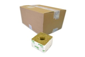 GRODAN pěstební kostka velká, 100x100x65mm, s velkou dírou, box 216ks