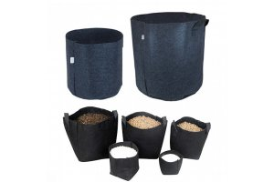 Tex Pot Agro textilní květináč černý, 50L