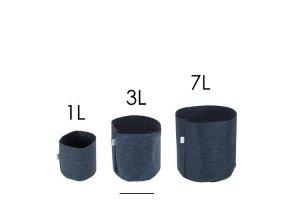 Tex Pot Agro textilní květináč černý, 7L