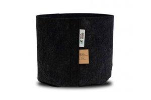 ROOT POUCH BLACK - Textilní květináč 12L