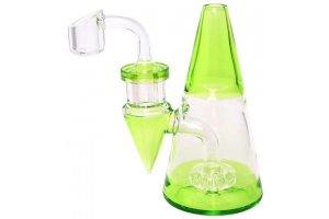 """Heatex Glass bong Minimalist Green 5"""""""
